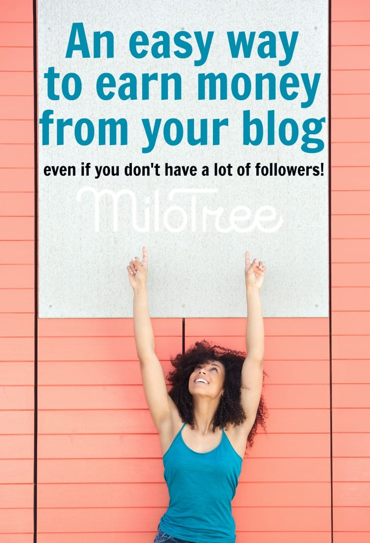 Join the MiloTree Affiliate Program and Start Earning Today! The MiloTree affiliate program is one of the most generous affiliate programs out there, and helps bloggers just like you earn money every single month! How to earn more money from your blog - even if you are a smaller blogger! #earnmoney #makemoney #makemoneyblogging #socialmedia #affiliatemarketing #milotree #bloggergenius